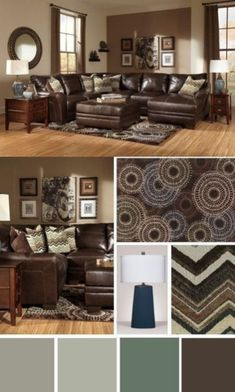 incredible decorating brown leather living room furniture | How to decorate around choc brown leather sofas | For the ...