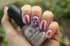 Twilight Sparkle Nails