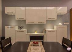 crockery units with mirror Diy Kitchen Storage Cabinet, Kitchen Wall Cabinets, Dining Room Storage, Dining Cabinet, Dining Buffet, Bar Cabinets, Kitchen Furniture, Kitchen Organization, Kitchen Interior