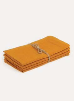 Heather Taylor Home Solid Goldenrod Napkin Set on Garmentory