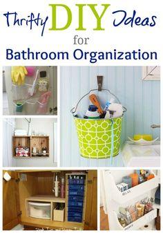 DIY Organization Ideas | Thrifty Bathroom Organization Ideas @ DIY Home Design