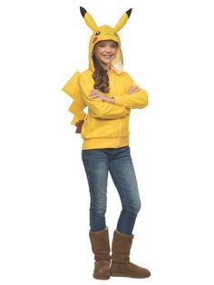 OFF or FREE SHIP -Pikachu Hoodie Tween Small : Pikachu is the most legendary and most recognizable Pokémon there is! Belonging to his owner Ash Ketchum, Pikachu has the ability to create static, store electricity, and release lightning rods at his oppon Modest Halloween Costumes, Tween Costumes, Wholesale Halloween Costumes, Easy Costumes, Costume Ideas, Children Costumes, Halloween Cosplay, Costume Pikachu, Costumes Pokemon