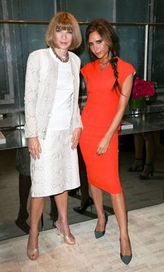 Anna Wintour & Victoria Beckham. #fashion #style #vogue