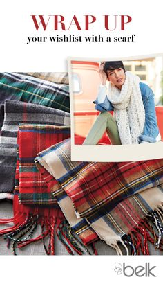 Need a stylish gift that keeps her warm all winter? A classic tartan scarf is just the accessory she needs to finish any bundled look. The timeless pattern and cashmere-like feel make it the perfect accent piece to keep her cute and cozy wherever she goes. Shop scarves in-store or at belk.com Stylish Outfits, Winter Outfits, Cute Outfits, Fashion Outfits, Stylish Clothes, Winter Clothes, Winter Wear, Autumn Winter Fashion, I Fall To Pieces