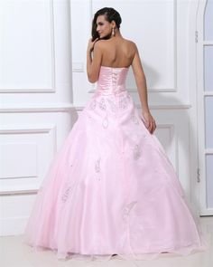 osell wholesale dropship Sweetheart Sleeveless Lace Up Floor Length Ruffle Beading Organza & Satin Woman Prom Dress $111.20