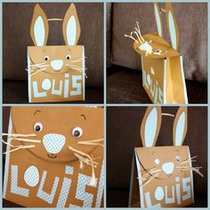 cute easter bunny envelopes for a gift or card