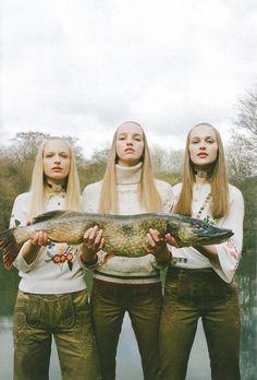 Michal Pudelka – Photographer  Irina Marie – Fashion Editor/Stylist  Alice Whiting – Prop Stylist  Frederikke Sofie – Model  Rozanne Verduin – Model