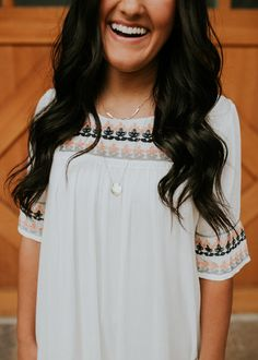 Embroidered Dress   ROOLEE
