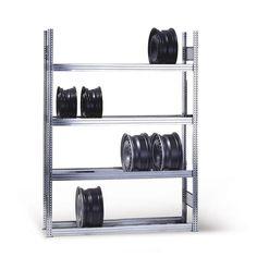 GTARDO.DE:  Felgenregal 250x100x30 cm, 5 Böden, Fachlast 250 kg, Feldlast 2000 kg 154,00 €