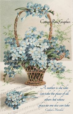 Victorian Mother's Day collage Basket of by CottageRoseGraphics, $3.95
