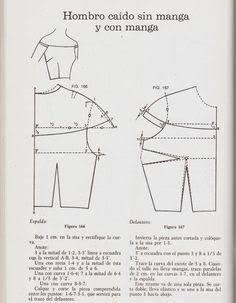 Resultado de imagen para trazos blusa campesina un hombro