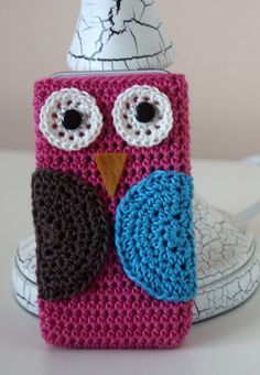 Owl Cell Phone Cover Crochet IPhone by kylieB on Etsy