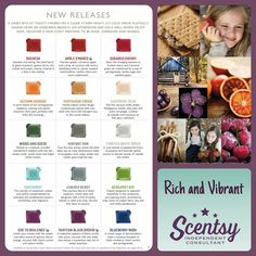 New Release scents available on September 1, 2015 in the Fall/Winter Catalog! https://yvonnesanya.scentsy.us