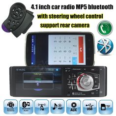4.1'' inch HD screen car radio bluetooth audio Stereo support rear view camera FM USB SD AUX IN MP5 player