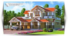 Get #Kerala #Home type best 3d elevation design like house, villas, flats, apartments etc.