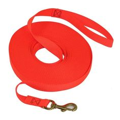 SGT KNOTS 1 inch Nylon Dog Training Long Line - 25 or 50 feet - Black or Blaze Orange ** Be sure to check out this awesome product.