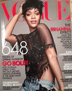 Rihanna on the cover of Vogue March 2014