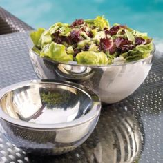 Super Chill Insulated Bowls~ the best for outside dining and parties..also comes with a chip and dip bowl as well as other useful serving dishes