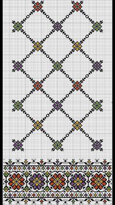 Border and lattice pattern Cross Stitch Borders, Cross Stitch Charts, Cross Stitch Designs, Cross Stitching, Cross Stitch Patterns, Folk Embroidery, Embroidery Patterns Free, Hand Embroidery Designs, Cross Stitch Embroidery