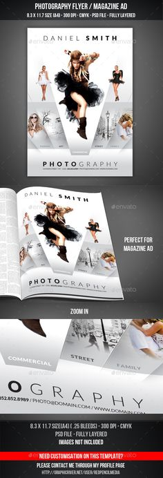 Photography Flyer Template-V303 by Template Shop on @creativemarket ...