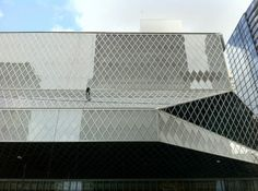 Washing the windows at the Central Branch of the Seattle Public Library, all 9,994 of them!