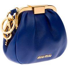 Women's Handbags & Bags : Miu Miu clutch collection & more - Fashion Inspire Fashion Handbags, Purses And Handbags, Fashion Bags, Fashion Accessories, Blue Handbags, Coin Purses, Miu Miu Clutch, Clutch Purse, Blue Clutch