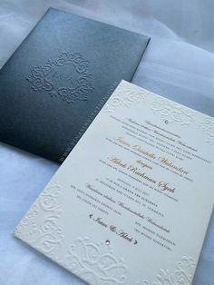 Vinas invitation. Emboss invitation. Royal theme. Emboss font. Gold font. Any question pls visit website www.vinasinvitation.com . Courtesy of Intan and Adeck. Indonesian wedding invitation