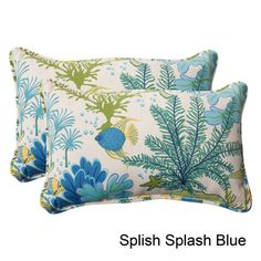 Pillow Perfect 'Splish Splash' Outdoor Throw Pillows (Set of 2) | Overstock.com Shopping - The Best Deals on Outdoor Cushions & Pillows
