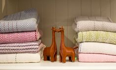 Handwoven baby blankets and kids toys at Nantucket Looms.