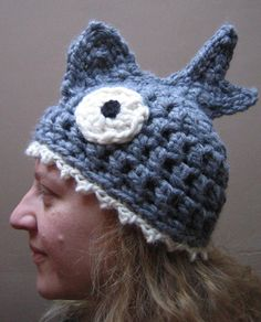 Silly Fish Hat 'Brain Food' Crocheted by BerthasBizarreBazaar, £25.00