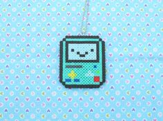 Adventure Time BMO Sprite Necklace....this is so cute, I'd love to make this!
