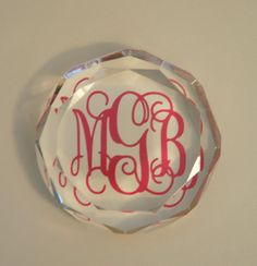monogram paperweight