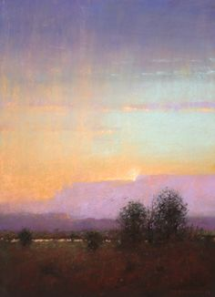 Evening Rain - New Mexico Landscape Art Painting by Tom Perkinson