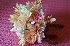Vintage crepe bouquet