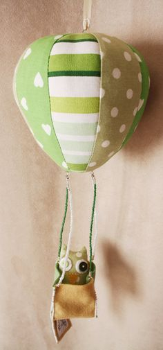 BOObeloobie Hot Air Balloon Mobile in Various Green by Mietjie, $60.00#Repin By:Pinterest++ for iPad#