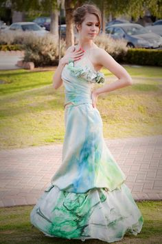 MORGAN CULTURE upcycled hand-dyed wedding gown