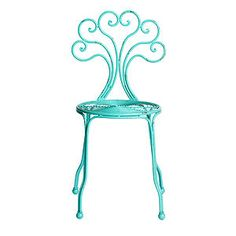 Distressed Metal Bistro Chair