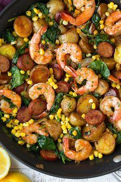 Shrimp Boil Skillet - Cooking Classy
