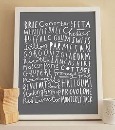 cheese kitchen print by old english company | notonthehighstreet.com