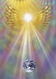 Perfect wings to embroider on stoleThe Spirit of Archangel Raphael. A healing presence.that connects with the Earth I Believe In Angels, Angel Pictures, Angels Among Us, Angel Cards, Angels In Heaven, Guardian Angels, Sacred Geometry, Holy Spirit, Mother Earth