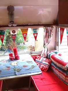 pretty caravan window