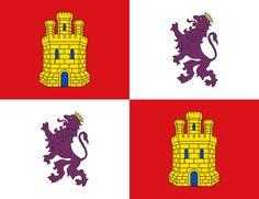 Bandera de la Comunidad Autónoma de Castilla y León.