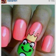 #frognailart fun nail art