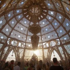 Temple of Transition - Burning Man 2011: The entire installation had a diameter…