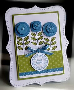 FINALLY!   Great idea for that button embossing folder I HAD to have.   I knew it would have a cool use!!