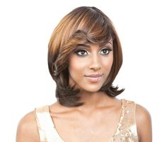 Isis Collection Synthetic Wig Nadia Chic, natural, and super sexy. Chic, natural, and super sexy. Bangs Ponytail, Beverly Johnson, Vivica Fox, Half Wigs, Side Bangs, Synthetic Wigs, Face Shapes, Human Hair Wigs, Cute Dresses