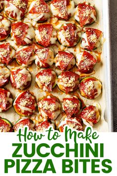 These Easy Zucchini Pizza Bites are a great way to use that abundance of zucchini you may have! Plus, it tastes great, easy to make, kid-friendly, and healthy! #zucchinipizzabites #pizzabites