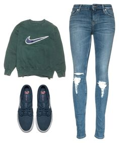 """""""cute basic look"""" by nighi ❤ liked on Polyvore featuring NIKE"""