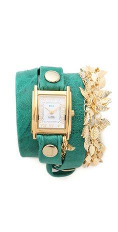 Multi Leaf Charm Wrap Watch