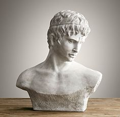 Bust of David Goes with the Italian art....could go on radiator cover